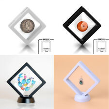 Magic 3D Albums Frame Floating Jewelry Display Stand Coin Medal Holder Box 7x7cm