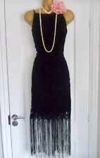 NEXT 1920s Style Gatsby Flapper Charleston Fringe Tassel  Dress Size 16