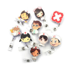 Exihibiton Clip Badge Nurse Doctors Badge Holder ID Name Card Retractable Reel