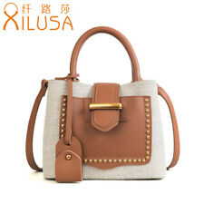 Xilusa Fashion Women Pink Handbag Canvas Shoulder Bag For Ladies Composite Bags