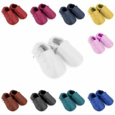 Boys & girl Solid Soft sole leather Baby Shoes With Non-slip Soles