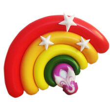 YhsBUY® 160cm Giant Rainbow Pool Floats Water Inflatable Floating Bed Mat Air