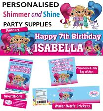 Personalised Shimmer and Shine Birthday Party Banner Decorations
