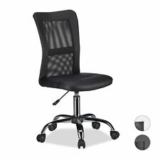 Office Desk Task Chair, Ergonomic Swivel Executive Chair with Castors