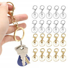 10pcs Snap Hook Key Chain Rings Clasps Split Ring for Keychain Bag Jewelry