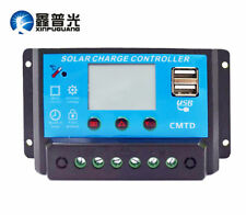 10A~30A Solar Charger Controller PWM 2 USB Battery Charge Regulator Panel 12/24V