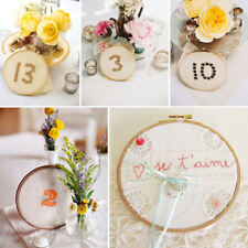 Wood Frame Hoop Circle Embroidery Cross Stitch Hand DIY Sewing Needlecraft Tool