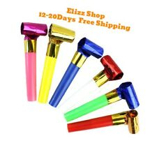 30PCS Child MultiColor Blowouts Whistles Kids Birthday Party Props Favors