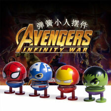 4pcs The Avengers Spring Shake Head Doll PVC Action Figure Toy Gift New In Box