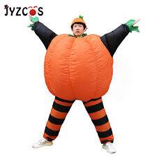 Adult Pumpkin Costume Scary Halloween Party Inflatable Blow Up Suit Cosplay Men