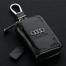 Car Key Fob Holder Cover for Audi A4L A6L A3 A8 Q5 Q7 A4 A6 A5 R8 S8TT with Logo