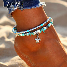 17KM® Vintage Shell Beads Starfish Anklets For Women New Multi Layer Handmade