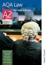 AQA Law A2; Students Book, Paperback, 9781408519714, AQA A Level Law, OUP Oxford