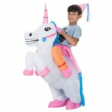 Inflatable Unicorn Rider Halloween Costume Adults Child Party Blow Up Outfit
