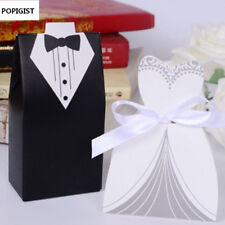 POPIGIST® Bride And Groom Wedding Candy Box Gift Favour Boxes Wedding
