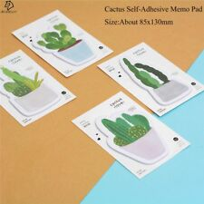 JESJELIU® Self-Adhesive Kawaii Sticky Notes Memo Pad Fresh Cactus Love