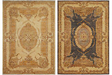 Traditional Hand Knotted Oriental Farhan Area Rug 100% Wool Persian Rugs (5 x 7)