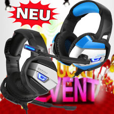 ONIKUMA Gaming Stereo Headset Kopfhörer Bass Surround für PC PS4 Xbox One 360E