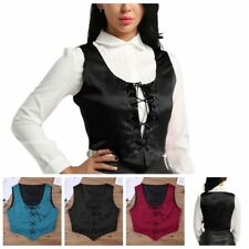 Sexy Women Medieval Halloween Reversible Costume Bodice Pirate Fair Wench Corset