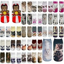 Unisex Funny 3D Fashion Cat Printed Casual Socks Short Cute Low Cut Ankle Socks