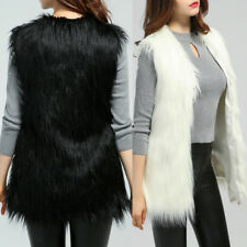 Womens Faux Fur Body Warmer Sleeveless Vest Waistcoat Gilet Jacket Coat Tops