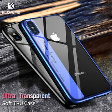 FLOVEME Luxury Phone Case For iPhone 8 7 Plus Transparent Plated Soft TPU Cases