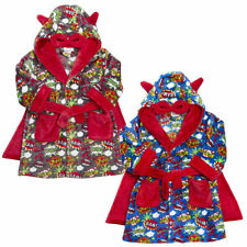 Boys Novelty Dressing Gown Childrens Super Hero Robe Night Thick Warm Size 2-6