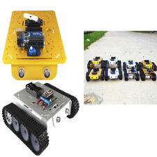 Metal Robotic Tracked Tank Car Chassis 9V Motor Hall LED light for Arduino