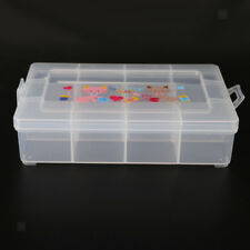 Clear Plastic Jewelry Box Storage Beads Pearls Organizer Container.