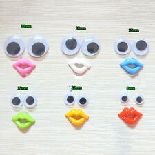 Round Mixed Wiggly Wobbly Googly Eyes For DIY Scrapbooking Crafts Funny  5Ii