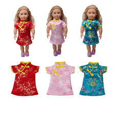 18 inch Doll Cheongsam Dress Chinese Gown for American Girl Doll Outfit