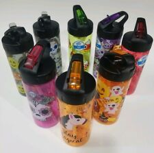 Cool Gear Kids Water Bottle 16 Oz BPA Free- Candy, Skull, Flower, and Ghost