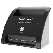 "Wavlink USB 3.0 to SATA Dual Bay Hard drive Docking Station for 2.5"" 3.5""HDD/SDD"