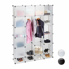 Modular Wardrobe System, 18 Compartments, Plastic Wardrobe Closet Shoe Cabinet