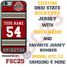 Ohio State Football Personalized Jersey Phone Case for iPhone Samsung LG etc.