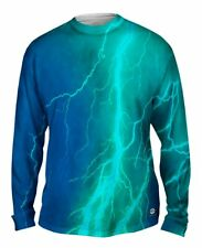 Yizzam- Lightning Storm Blue Turqouise - New Mens Long Sleeve Tee Shirt XS S M