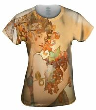 "Yizzam- Alphonse Mucha - ""Fruit"" (1897) - New Womens Top Shirt Tshirt XS S M L"