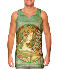 "Yizzam- Alphonse Mucha - ""Laurel"" (1901) - New Men Tank Top Tee Shirt XS S M L"