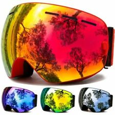 Ski Goggles,Winter Snow Sports Snowboard Goggles with Anti-fog UV Protection for