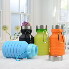 NEW 550ml Outdoor Travel Silicone Portable Telescopic Drinking Collapsible Cup
