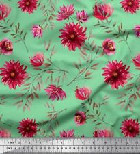 Soimoi Fabric Leaves & Aster Floral Printed Craft Fabric by the Yard - FL-1780B