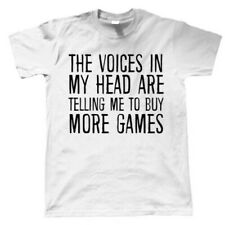 Voices In My Head Buy More Games, Mens Funny T Shirt - Gaming Gamer Gift Him Dad