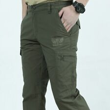 Mens Outdoor Hiking Multi Pockets Solid Quick Dry Tactical Pants Trousers HOT