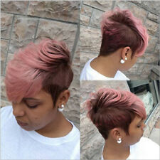 Women Curly Short Wigs Black Brown Wine red Pink Pixie Cut Synthetic Hair Wigs