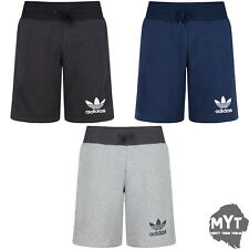 New Adidas Originals Mens 3 Stripes Essential Shorts Casual Fleece Shorts S - xl