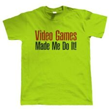 Video Games Made Me Do It, Mens Funny Gamer T Shirt - Gift Him Dad Fathers Day