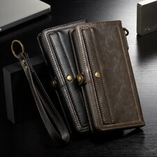 For Samsung S10 S9 Note 10 Plus S8 Real Leather Wallet Card Slot Flip Case Cover