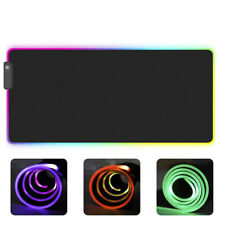 RGB Colorful LED Lighting Gaming Mouse Pad Mat for PC Laptop~2YBLCA