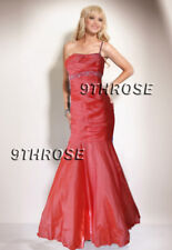 BEADED ONE SHOULDER CORAL MERMAID FORMAL/EVENING/PROM/BRIDESMAID/BALL GOWN