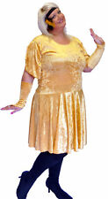 GOLD CHARLESTON 1920's  FANCY DRESS COMES IN EVERY PLUS SIZE
